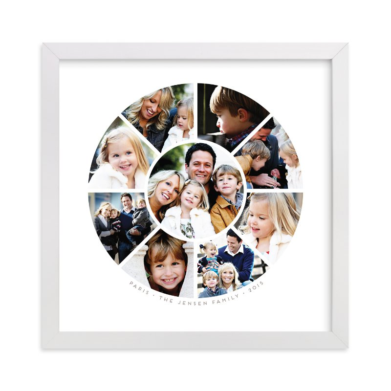 This is a grey photo art by Guess What Design Studio called Family Circle.