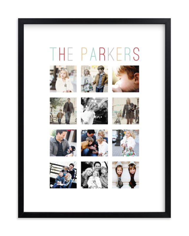 """""""Family Name"""" - Custom Photo Art Print by Stacey Meacham in beautiful frame options and a variety of sizes."""