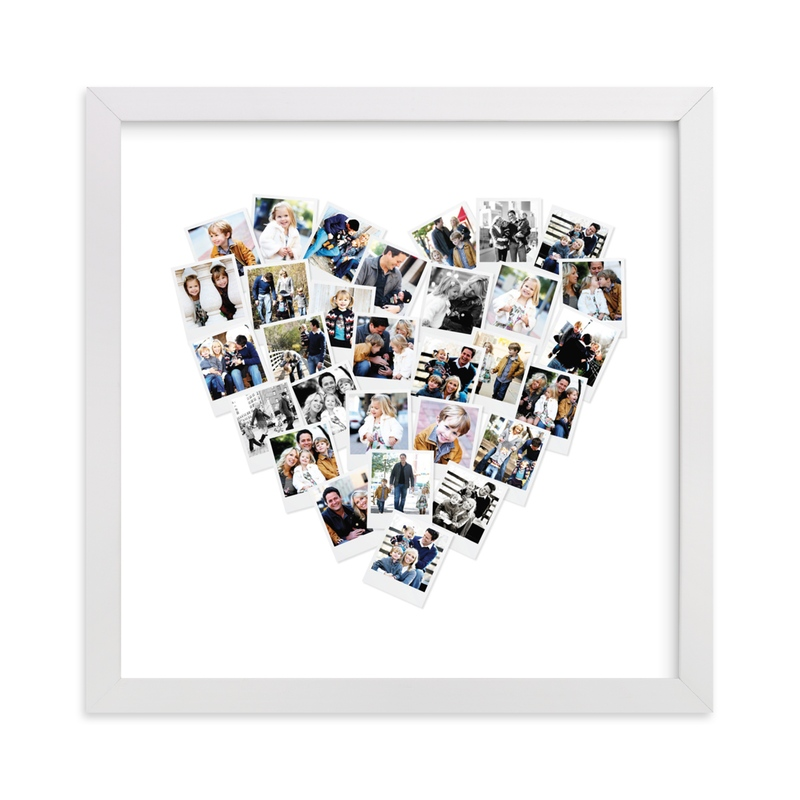 This is a grey photo art by Minted called Heart Snapshot Mix® Photo Art with standard.
