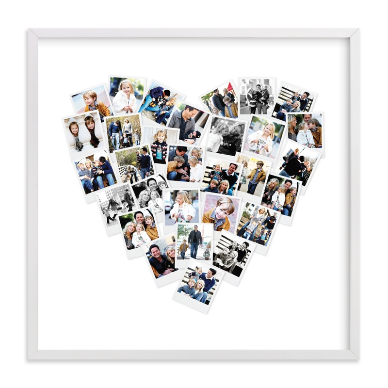 """""""Heart Snapshot Mix® Photo Art"""" - Custom Photo Art Print by Minted in beautiful frame options and a variety of sizes."""