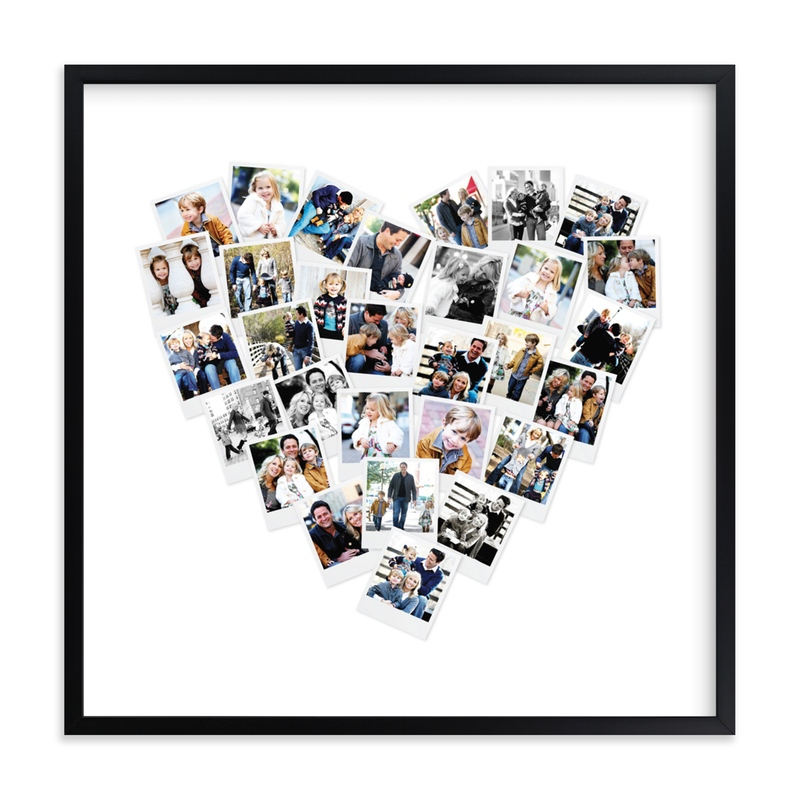 Heart Snapshot Mix® Photo Art Custom Photo Art Print