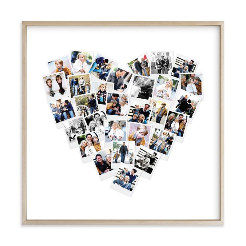 Heart Snapshot Mix® Photo Art Custom Photo Art Print