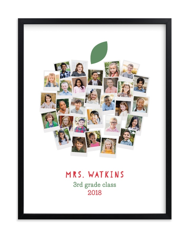 """Apple for the Teacher"" - Custom Photo Art Print by Laura Bolter Design in beautiful frame options and a variety of sizes."