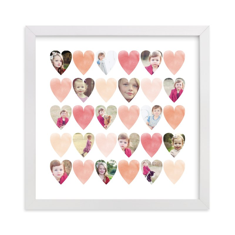 This is a orange photo art by Grace Kreinbrink called Watercolor Hearts with standard.