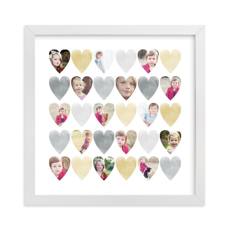 This is a grey photo art by Grace Kreinbrink called Watercolor Hearts.