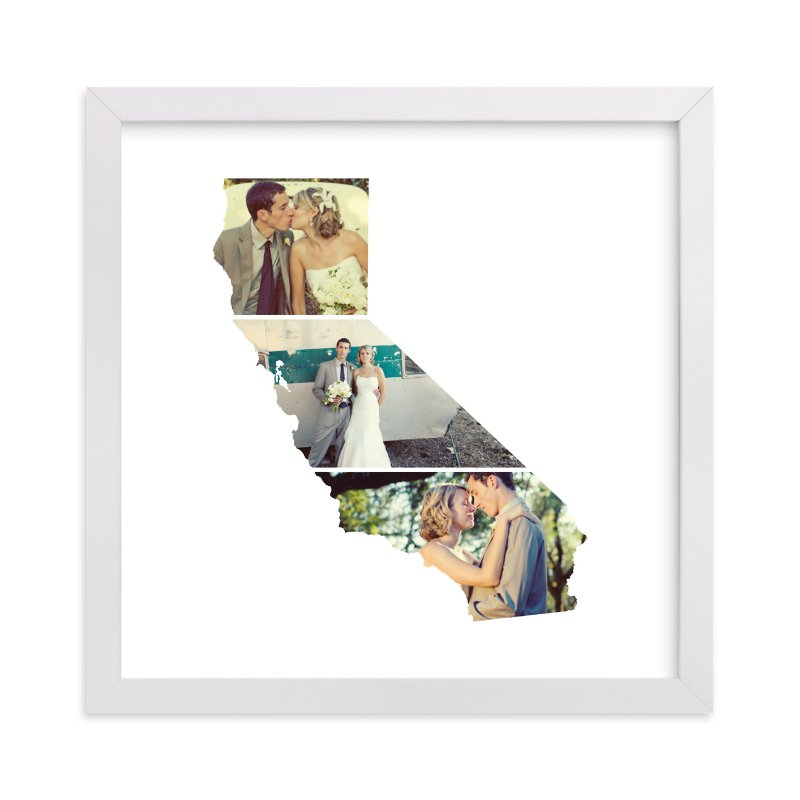 This is a white photo art by Heather Buchma called California Love Location with standard.