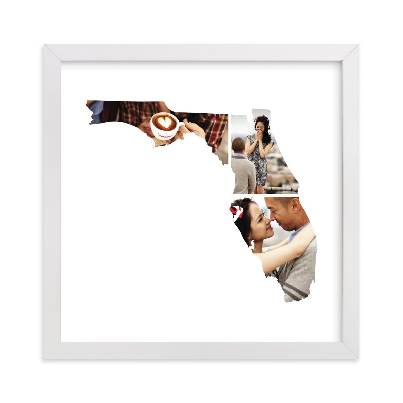 This is a white photo art by Heather Buchma called Florida Love Location with standard.