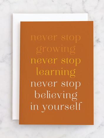 Never Stop. Graduate