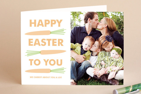Easter Carrots Easter Greeting Cards