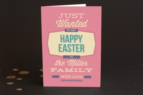 Easter Hoppiness Easter Greeting Cards