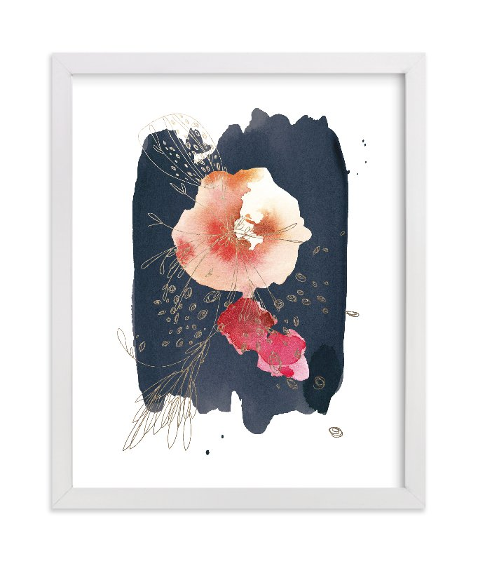 """Fleur"" - [non-custom] Foil-pressed Art Print by Kelly Ventura in beautiful frame options and a variety of sizes."