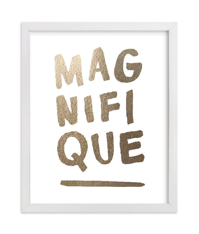 """""""Magnifique"""" - [non-custom] Foil-pressed Art Print by Marabou Design in beautiful frame options and a variety of sizes."""