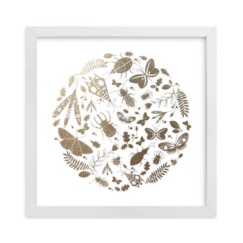 """Under The Microscope Foil"" - Foil-pressed Art Print by Kayla King in beautiful frame options and a variety of sizes."