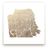 San Francisco Map Foil-Pressed Wall Art