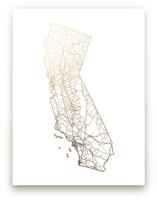 California Map Foil-Pressed Wall Art