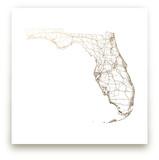 Florida Map Foil-Pressed Wall Art