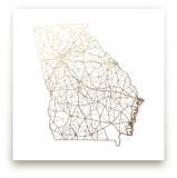 Georgia Map Foil-Pressed Wall Art