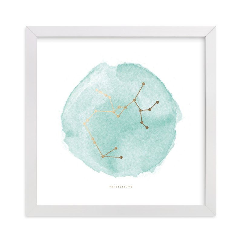 """""""Sagittarius"""" - [non-custom] Foil-pressed Art Print by Annie Clark in beautiful frame options and a variety of sizes."""