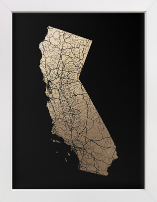 Foil pressed wall art prints minted california map filled gumiabroncs Gallery
