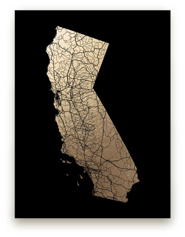 Foil pressed wall art prints minted california map filled gumiabroncs Image collections