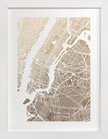 foil pressed new york city map