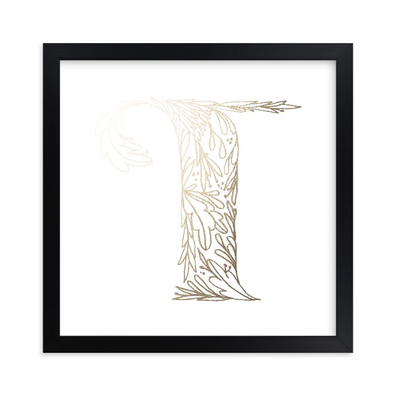 """Botanical T"" - Foil-pressed Art Print by Grace Kreinbrink in beautiful frame options and a variety of sizes."