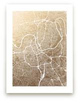 Nashville Map Foil-Pressed Wall Art