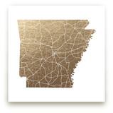 Arkansas Map Foil-Pressed Wall Art