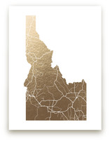 Idaho Map Foil-Pressed Wall Art