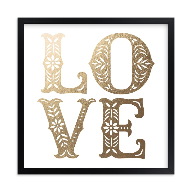 """""""Papercut Love"""" - [non-custom] Foil-pressed Art Print by Hooray Creative in beautiful frame options and a variety of sizes."""
