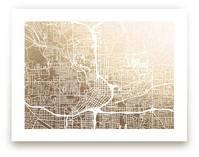 Atlanta Map Foil-Pressed Wall Art