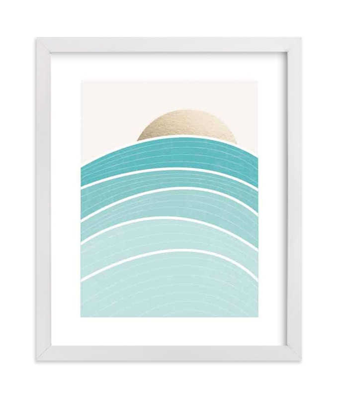 """""""Rise"""" - Foil-pressed Art Print by Jennifer Morehead in beautiful frame options and a variety of sizes."""