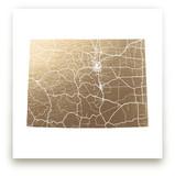 Colorado Map Foil-Pressed Wall Art