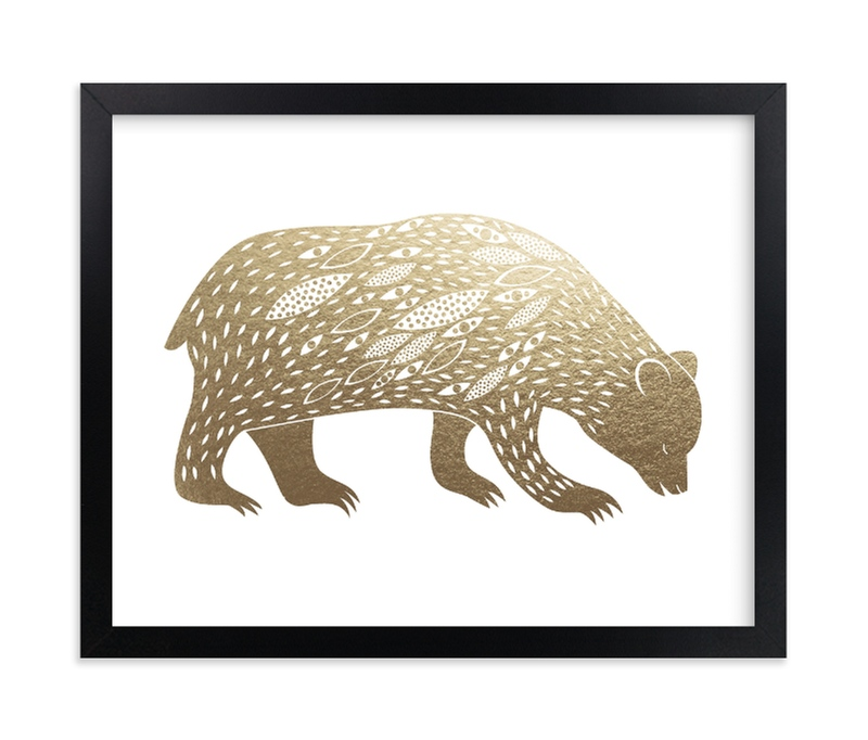 """""""Spirit Bear"""" - Foil-pressed Art Print by Eve Schultz in beautiful frame options and a variety of sizes."""