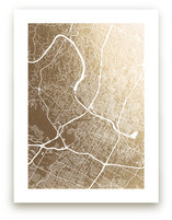 Austin Map Foil-Pressed Wall Art