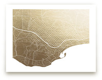 Santa Barbara Map by Griffinbell Paper Co.