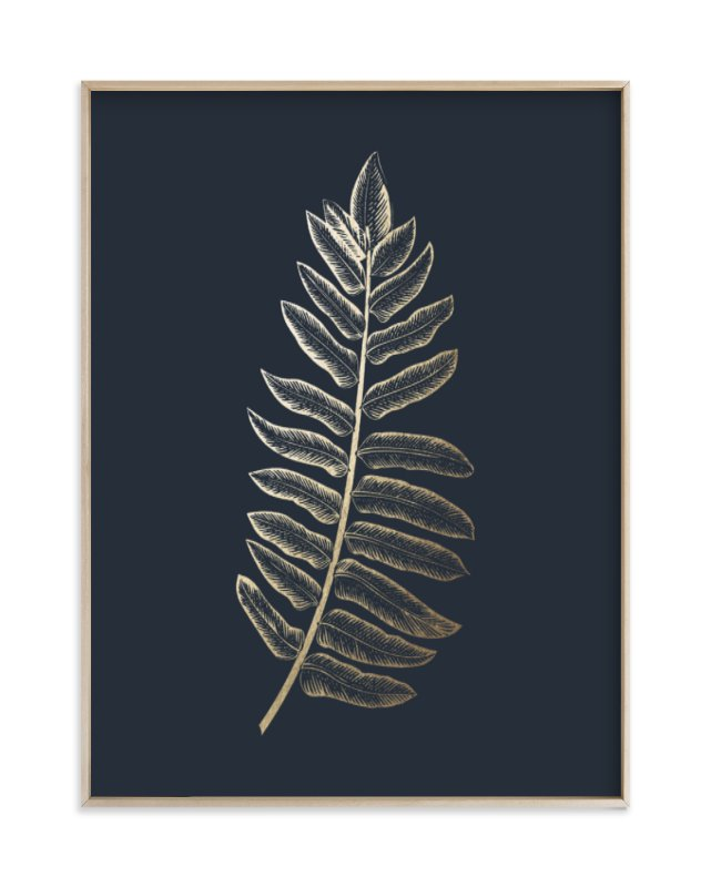"""""""Leaf Study 1"""" - Foil-pressed Art Print by annie clark in beautiful frame options and a variety of sizes."""