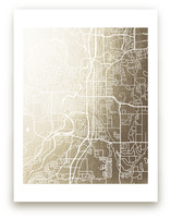 Bend Map Foil-Pressed Wall Art