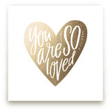 So Loved Heart Foil-Pressed Wall Art