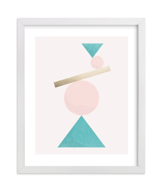 """""""Balance"""" - [non-custom] Foil-pressed Art Print by Jennifer Morehead in beautiful frame options and a variety of sizes."""