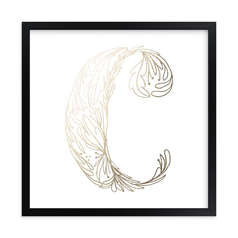 """Botanical C"" - Foil-pressed Art Print by Grace Kreinbrink in beautiful frame options and a variety of sizes."
