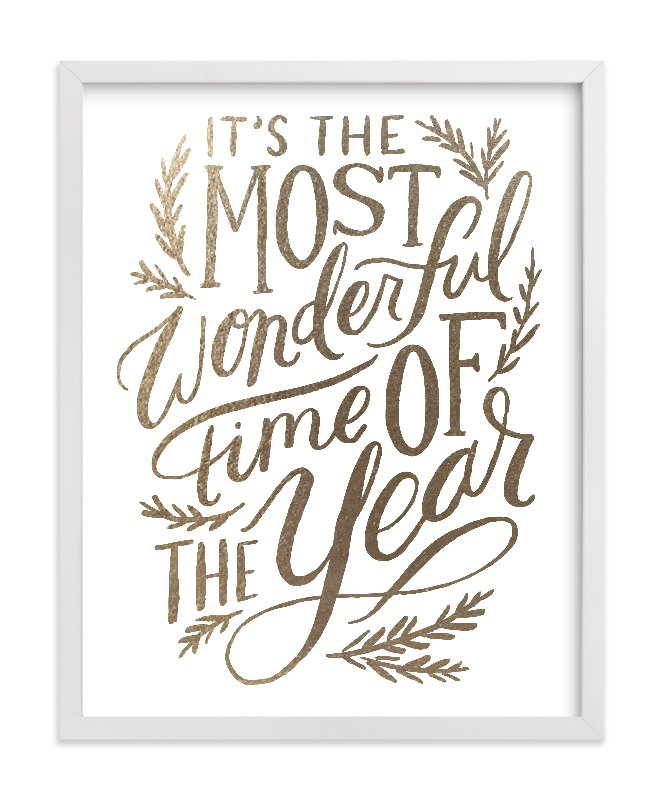 Most Wonderful Time Foil-Pressed Art Print