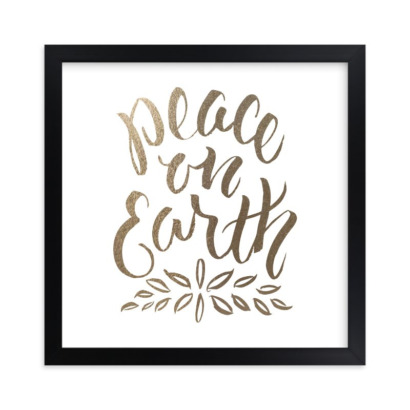 """""""Peace on Earth"""" - [non-custom] Foil-pressed Art Print by Sam Dubeau in beautiful frame options and a variety of sizes."""