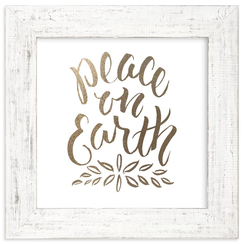 """Peace on Earth"" - Foil-pressed Art Print by Sam Dubeau in beautiful frame options and a variety of sizes."