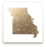 Missouri Map Foil-Pressed Wall Art