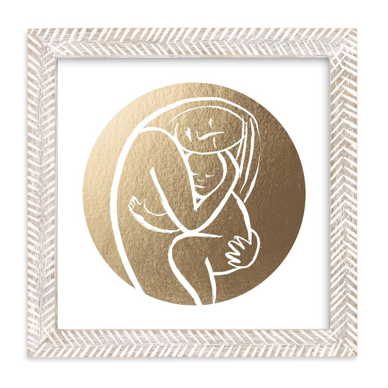 """Every Mother Counts - Filled"" - Foil-pressed Art Print by Minted in beautiful frame options and a variety of sizes."