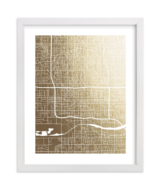 """""""Phoenix Map"""" - [non-custom] Foil-pressed Art Print by Griffinbell Paper Co. in beautiful frame options and a variety of sizes."""