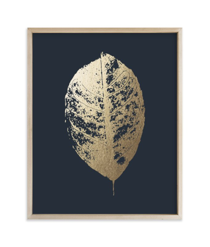 """""""Lemon Tree"""" - Foil-pressed Art Print by LemonBirch Design in beautiful frame options and a variety of sizes."""