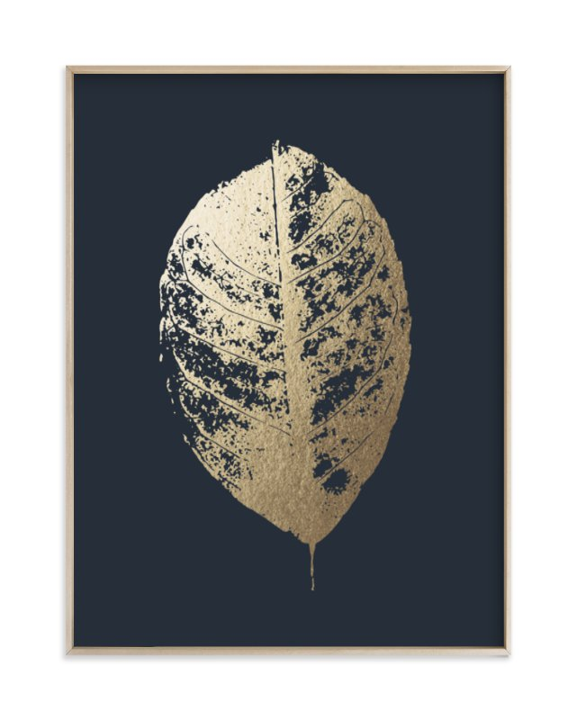 """Lemon Tree"" - Foil-pressed Art Print by LemonBirch Design in beautiful frame options and a variety of sizes."