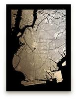 Brooklyn Map Foil-Pressed Wall Art